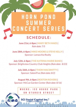 Horn Pond Summer Concert Series 2019