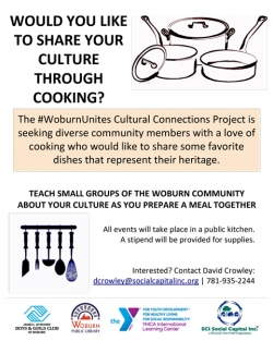 Cooks for Cultural Connections Flyer